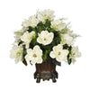 Artificial Magnolia with Asparagus Fern in Traditional Urn - House of Silk Flowers®  - 1