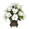 Artificial Magnolia with Asparagus Fern in Traditional Urn - House of Silk Flowers®  - 3