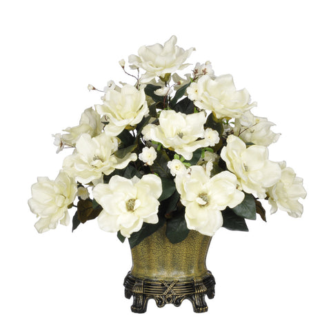Artificial Magnolia with Cherry Blossoms in Traditional Urn - House of Silk Flowers®  - 2