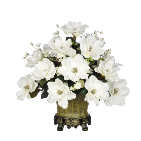 Artificial Magnolia with Cherry Blossoms in Traditional Urn - House of Silk Flowers®  - 4