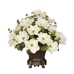 Artificial Magnolia with Eucalyptus in Traditional Urn - House of Silk Flowers®  - 1