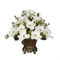 Artificial Magnolia with Eucalyptus in Traditional Urn - House of Silk Flowers®  - 3