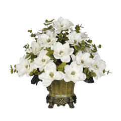 Artificial Magnolia with Eucalyptus in Traditional Urn - House of Silk Flowers®  - 4