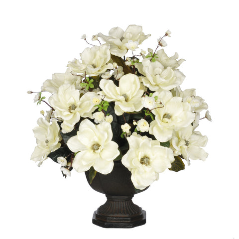 Artificial Magnolia with Cherry Blossoms in Garden Urn - House of Silk Flowers®  - 2