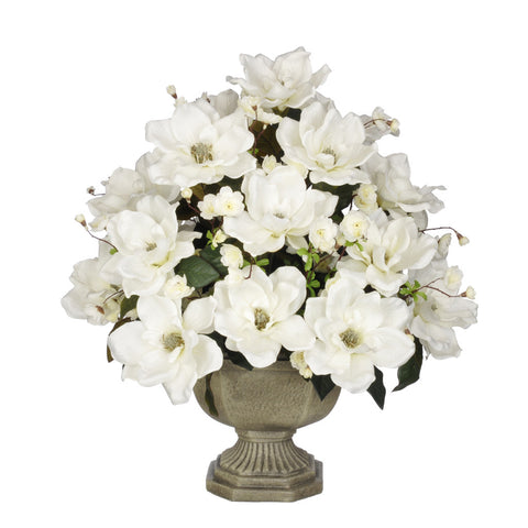 Artificial Magnolia with Cherry Blossoms in Garden Urn - House of Silk Flowers®  - 6