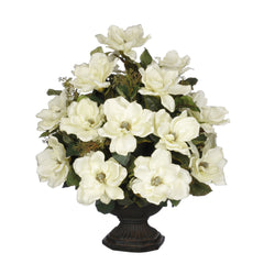 Artificial Magnolia with Bay Leaves in Garden Urn - House of Silk Flowers®  - 2