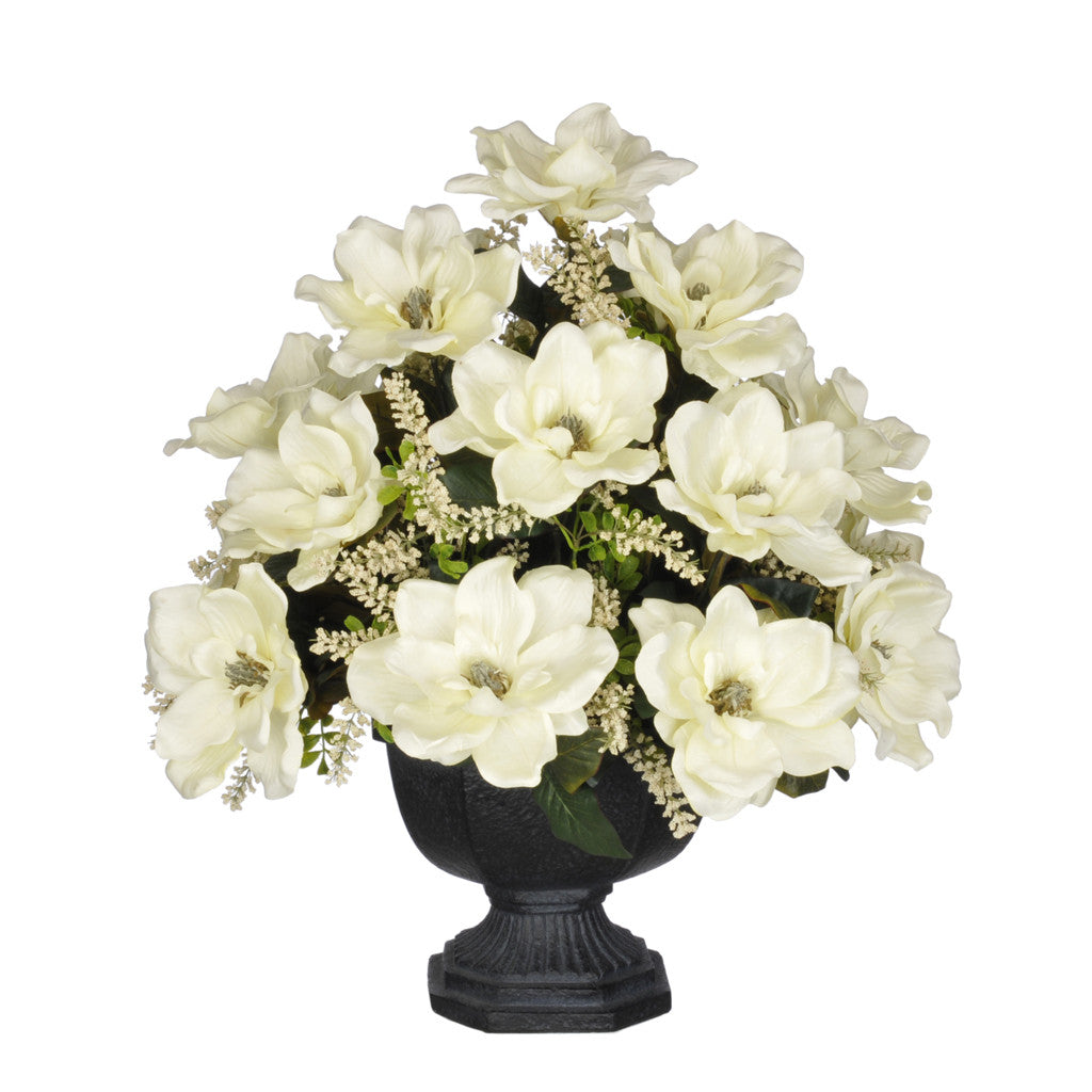 Artificial Magnolia with Astilbe in Garden Urn - House of Silk Flowers®  - 1