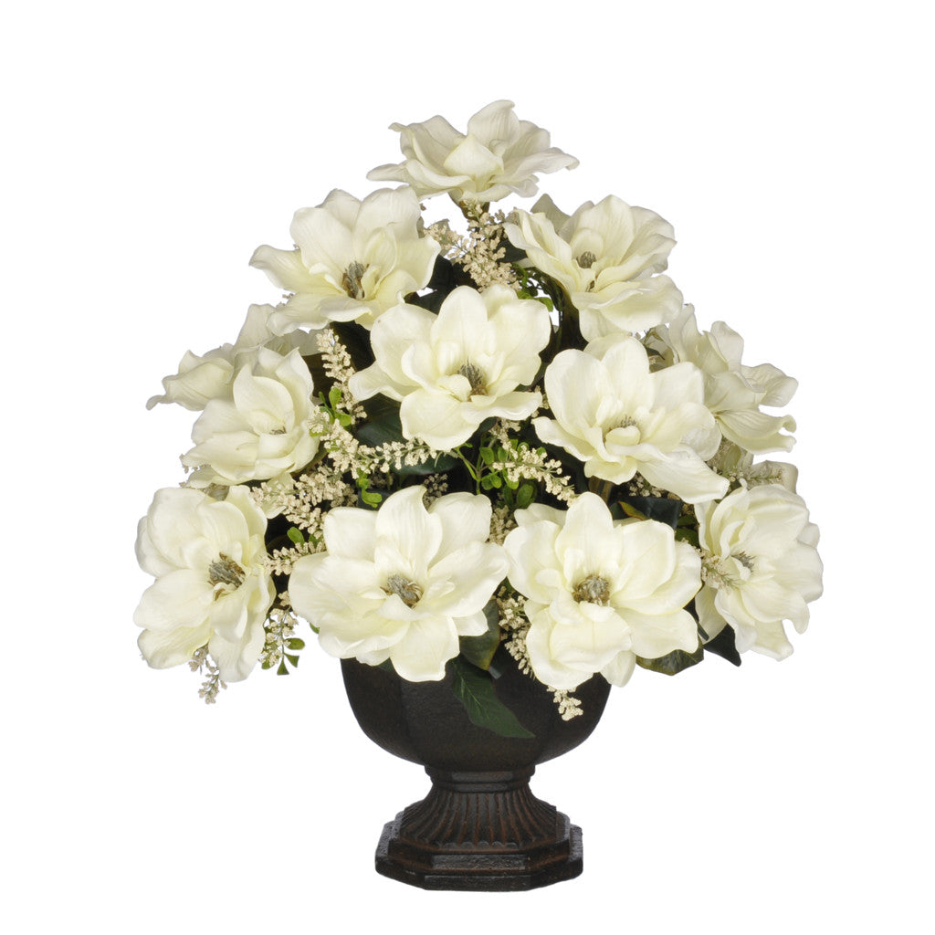 Artificial Magnolia with Astilbe in Garden Urn - House of Silk Flowers®  - 2