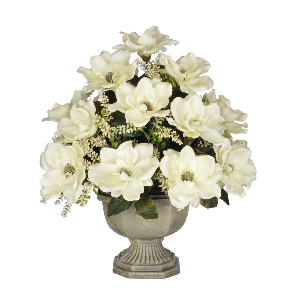 Artificial Magnolia with Astilbe in Garden Urn - House of Silk Flowers®  - 3