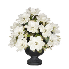 Artificial Magnolia with Astilbe in Garden Urn - House of Silk Flowers®  - 4