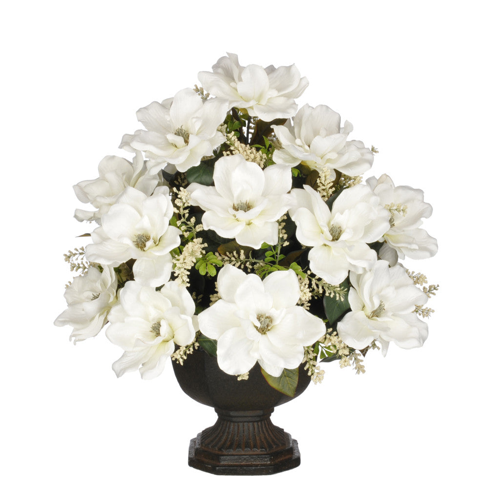 Artificial Magnolia with Astilbe in Garden Urn - House of Silk Flowers®  - 5