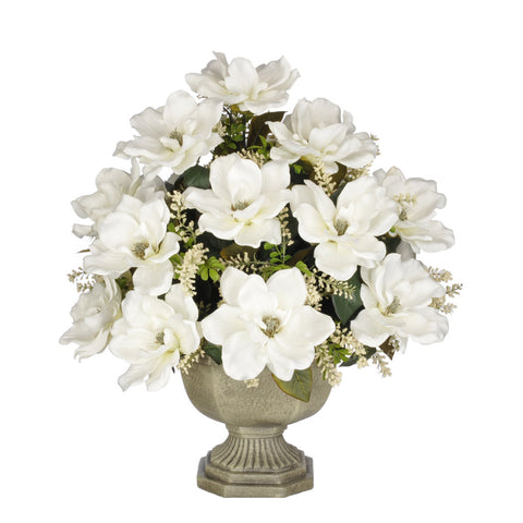 Artificial Magnolia with Astilbe in Garden Urn - House of Silk Flowers®  - 6