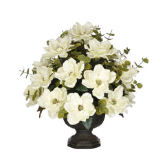 Artificial Magnolia with Eucalyptus in Garden Urn - House of Silk Flowers®  - 2