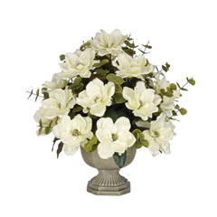Artificial Magnolia with Eucalyptus in Garden Urn - House of Silk Flowers®  - 3