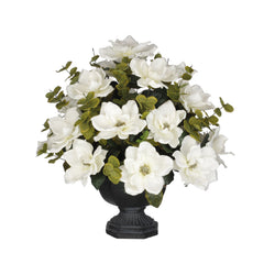 Artificial Magnolia with Eucalyptus in Garden Urn - House of Silk Flowers®  - 4