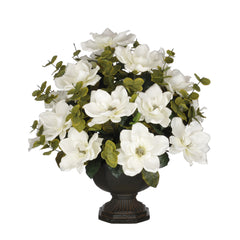 Artificial Magnolia with Eucalyptus in Garden Urn - House of Silk Flowers®  - 5