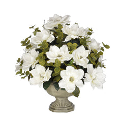 Artificial Magnolia with Eucalyptus in Garden Urn - House of Silk Flowers®  - 6