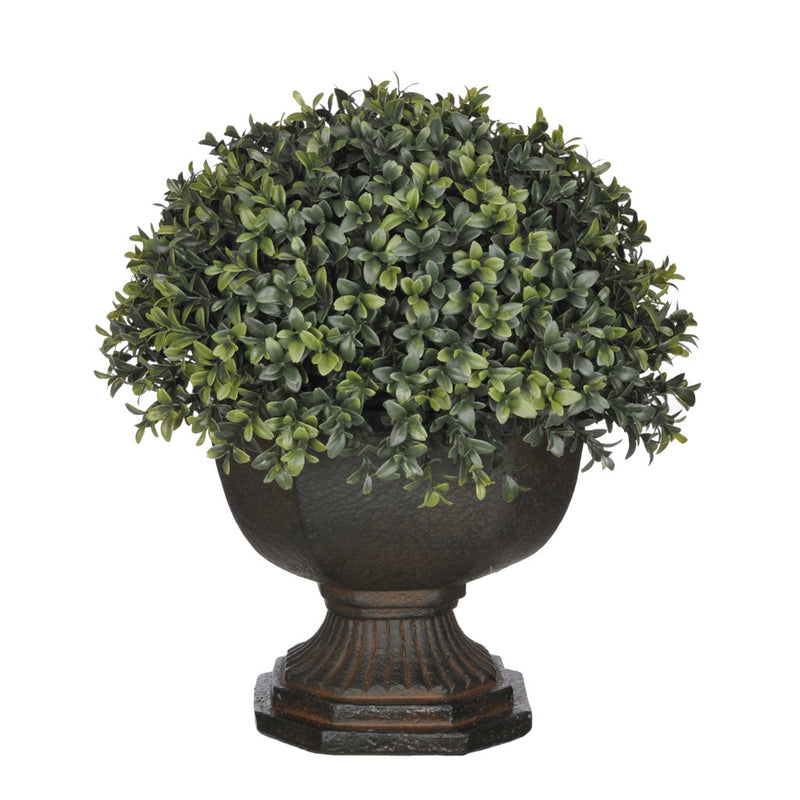 Artificial Half-Ball Boxwood Topiary in Garden Urn - House of Silk Flowers®  - 3