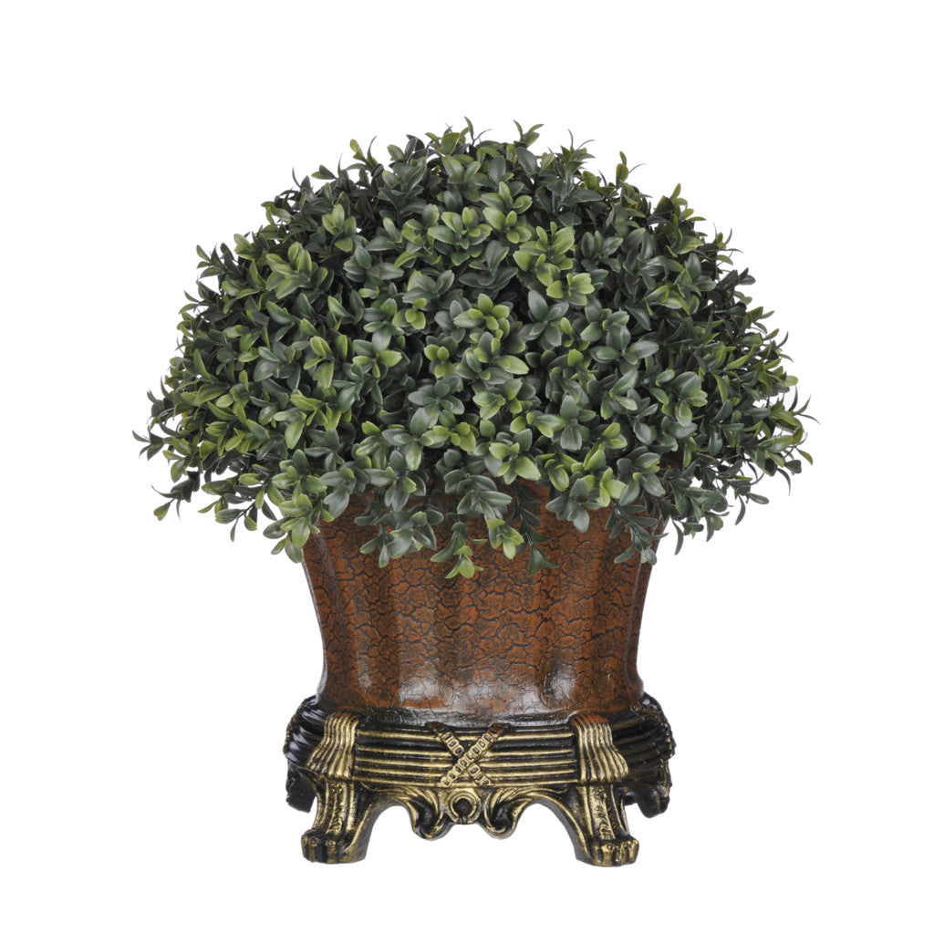 Artificial Half-Ball Boxwood Topiary in Traditional Urn - House of Silk Flowers®  - 2