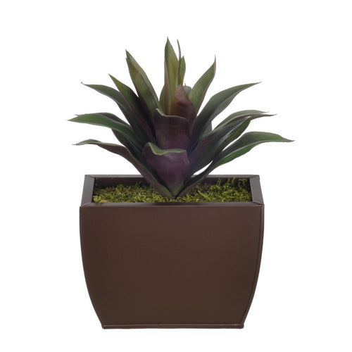 Artificial Green/Burgundy Succulent in Planter - House of Silk Flowers®  - 2