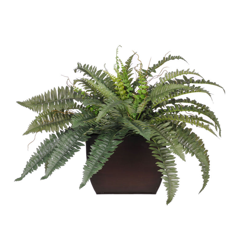 Artificial Fern in Large Zinc - House of Silk Flowers®