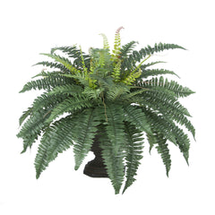 Artificial Fern in Garden Urn House of Silk Flowers®