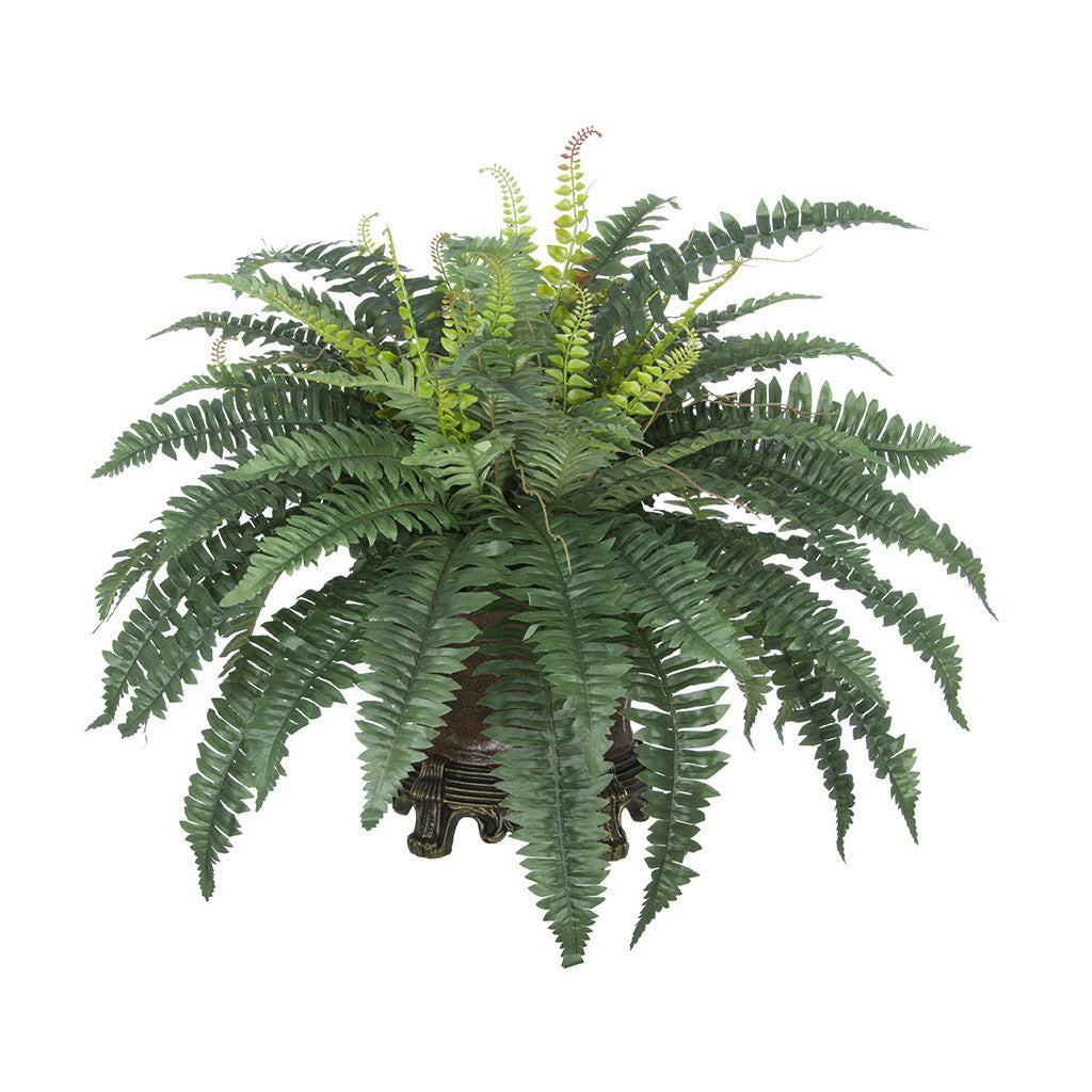 Artificial Fern in Traditional Vase House of Silk Flowers®