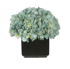 Artificial Hydrangea in Small Black Cube Ceramic - House of Silk Flowers®  - 8