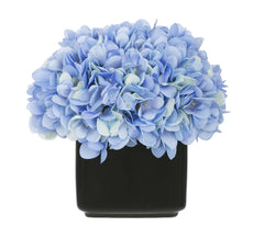 Artificial Hydrangea in Small Black Cube Ceramic - House of Silk Flowers®  - 2
