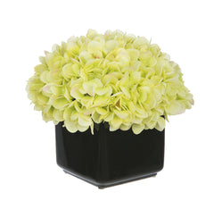 Artificial Hydrangea in Small Black Cube Ceramic - House of Silk Flowers®  - 9