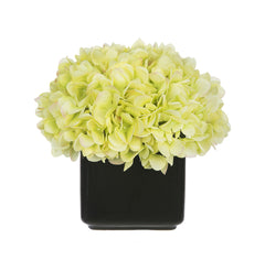 Artificial Hydrangea in Small Black Cube Ceramic - House of Silk Flowers®  - 10