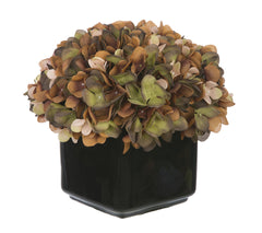 Artificial Hydrangea in Small Black Cube Ceramic - House of Silk Flowers®  - 11