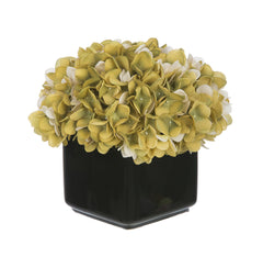 Artificial Hydrangea in Small Black Cube Ceramic - House of Silk Flowers®  - 13