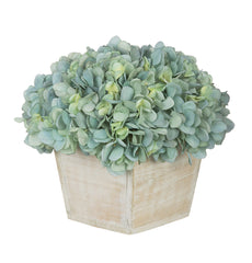 Artificial Hydrangea in White-Washed Wood Cube - House of Silk Flowers®  - 5