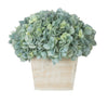 Artificial Hydrangea in White-Washed Wood Cube - House of Silk Flowers®  - 6