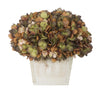 Artificial Hydrangea in White-Washed Wood Cube - House of Silk Flowers®  - 12