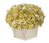 Artificial Hydrangea in White-Washed Wood Cube - House of Silk Flowers®  - 13