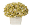 Artificial Hydrangea in White-Washed Wood Cube - House of Silk Flowers®  - 14