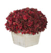Artificial Hydrangea in White-Washed Wood Cube - House of Silk Flowers®  - 3