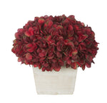 Artificial Hydrangea in White-Washed Wood Cube - House of Silk Flowers®  - 4