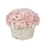 Artificial Hydrangea in White-Washed Wood Cube - House of Silk Flowers®  - 17