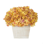 Artificial Hydrangea in White-Washed Wood Cube - House of Silk Flowers®  - 24