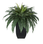 Artificial Fern in Tapered Zinc Planter - House of Silk Flowers®