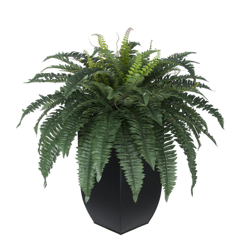 Artificial Fern in Tapered Zinc Planter - House of Silk Flowers®  - 2