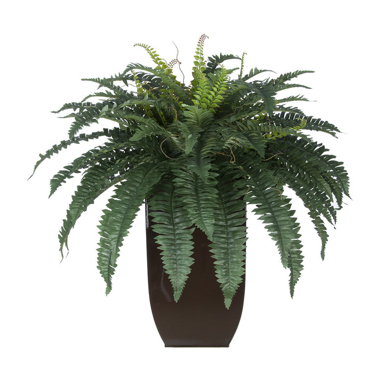 Artificial Fern in Tapered Zinc Planter - House of Silk Flowers®  - 3