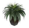 Artificial Fern in Tapered Zinc Planter - House of Silk Flowers®  - 4