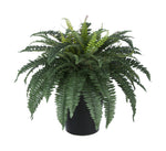 Artificial Fern in Round Zinc Planter - House of Silk Flowers®  - 3