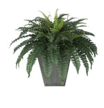 Artificial Fern in Square Zinc Planter - House of Silk Flowers®  - 9