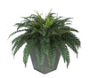 Artificial Fern in Square Zinc Planter - House of Silk Flowers®  - 10