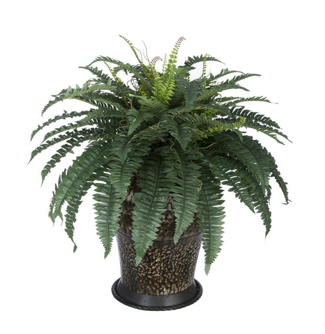 Artificial Fern in Metal Planter - House of Silk Flowers®